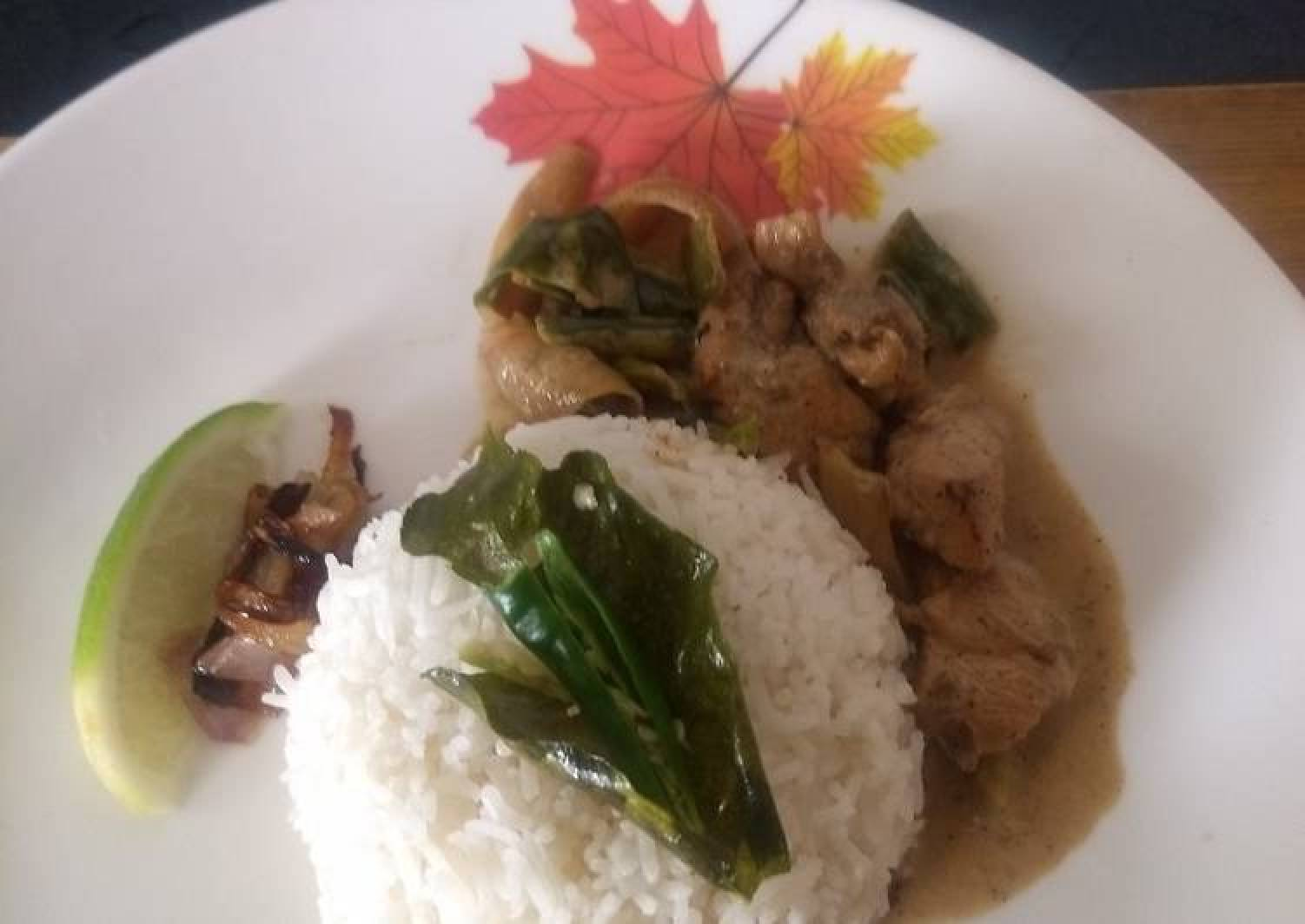 Thai Style Coconut Chicken flavoured with Kafir Lime and aromatic rice