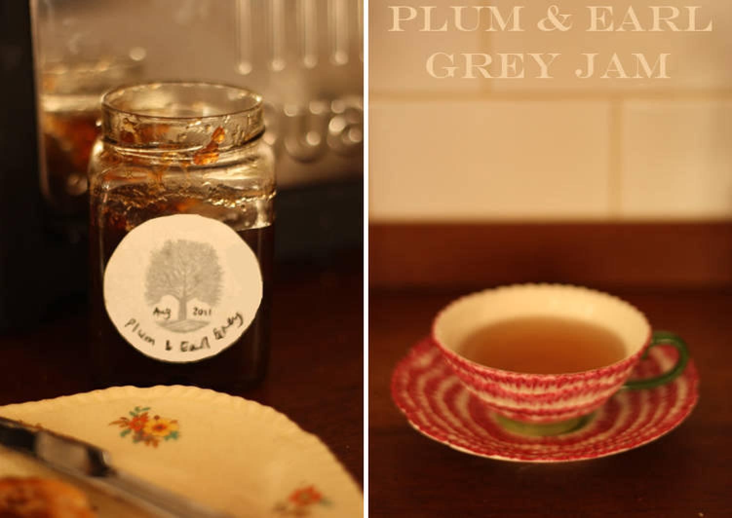 Plum and Earl Grey jam