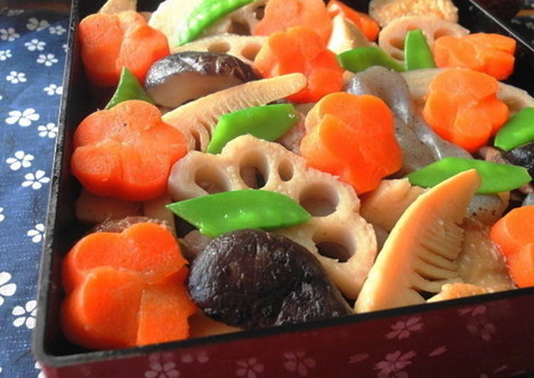 For the New Years Feast Standard Chikuzen-ni Simmered Chicken and Vegetables