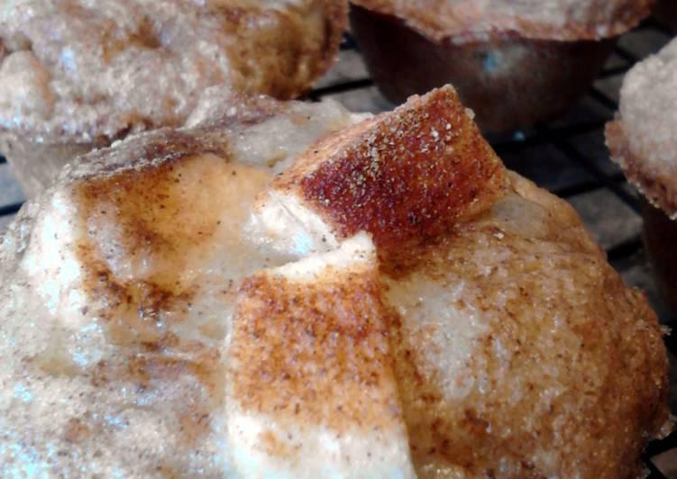 Mini Apple Banana Walnut Bread Muffins