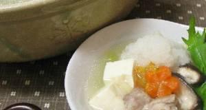 Light Chicken Mizore sleet Hot Pot