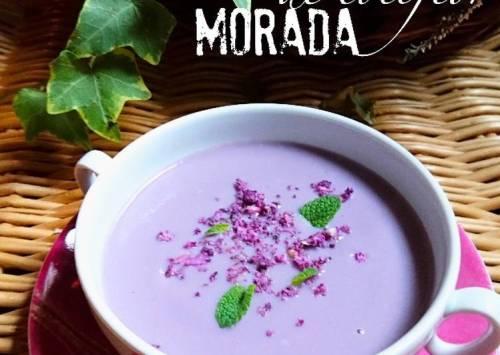 Foto principal de Crema de coliflor morada
