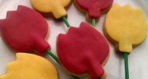 Vickys Easter Tulip Cookie Pops GF DF EF SF NF