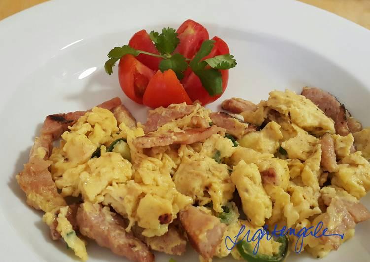"""How you like it"" Simple Ham & Eggs"
