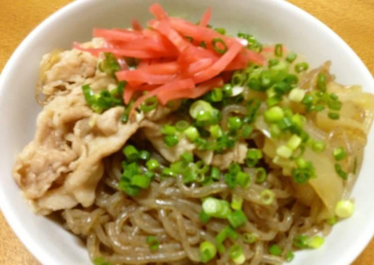 Beef Bowl Pork Bowl Shirataki Noodle Bowl