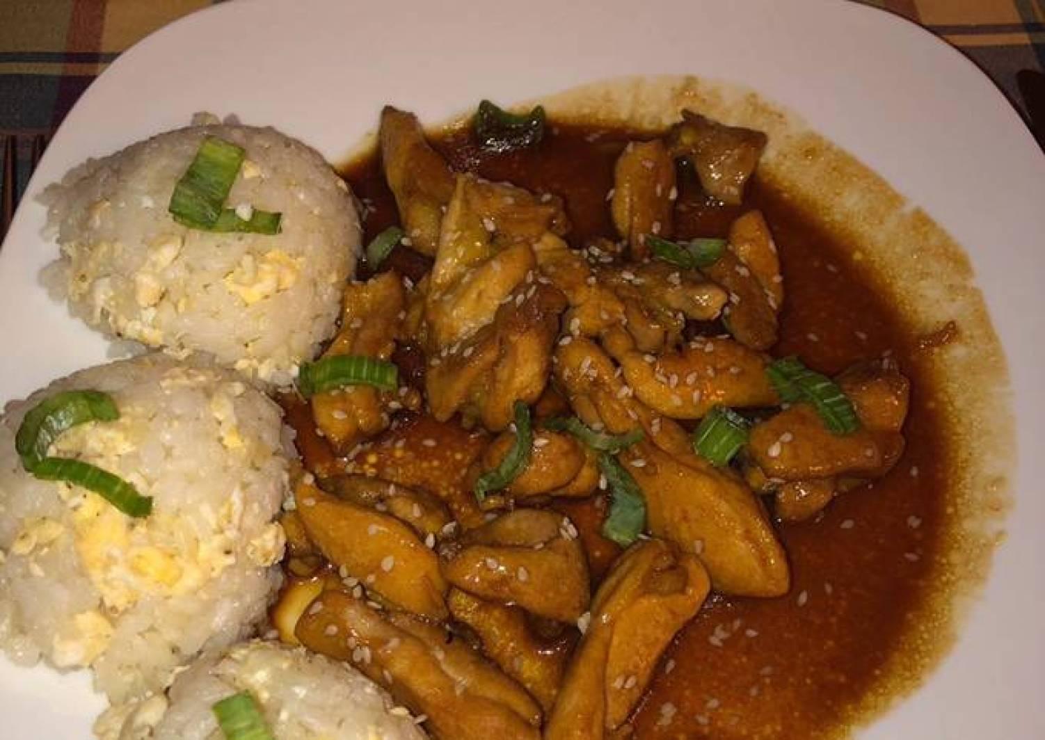 Teriyaki Chicken and egg fried rice