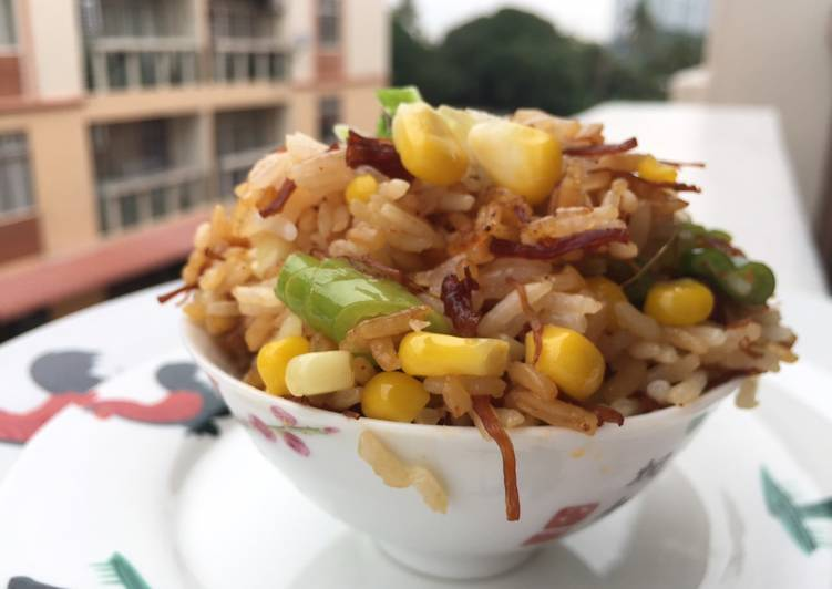 Baked Rice with XO Sauce and Sweetcorn