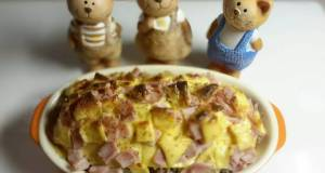 Rice Baked with Ham and Cheese