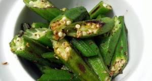Okra With Sichuan Peppercorn Salt