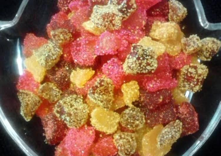 Candied Zucchini Fruit Snacks (dehydrated/dehydrator)