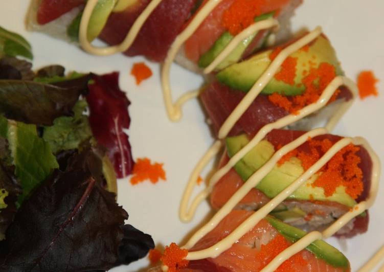 For Parties and Celebrations: Rainbow Roll Sushi
