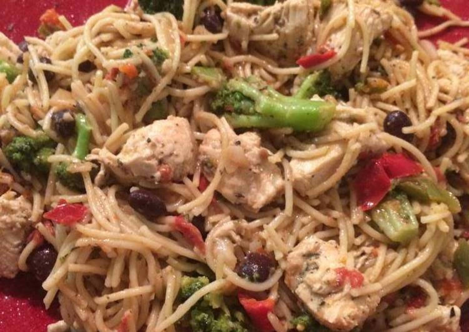 Chicken and Oil and Herb Pasta