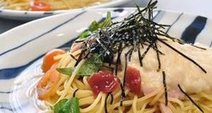 Silky and Cold Nagaimo and Umeboshi Spaghetti
