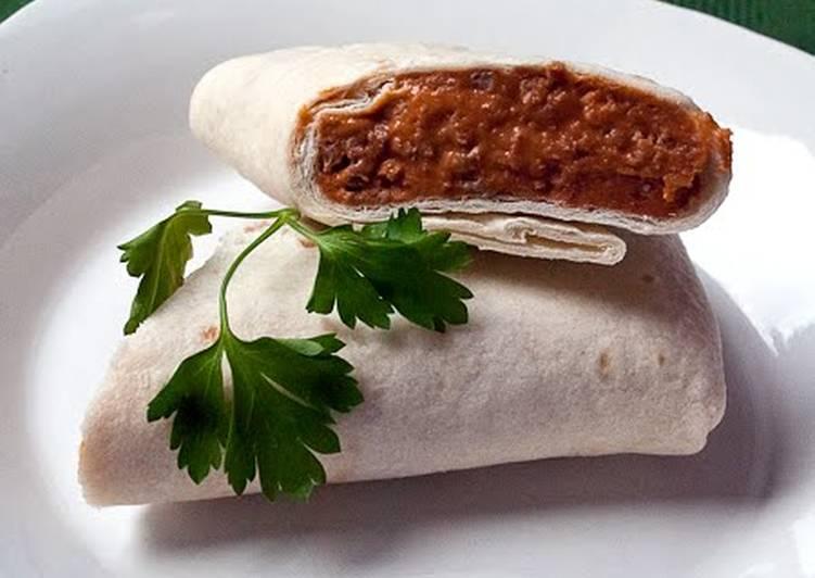 Simple Way to Make Homemade Easy Bean Burritos