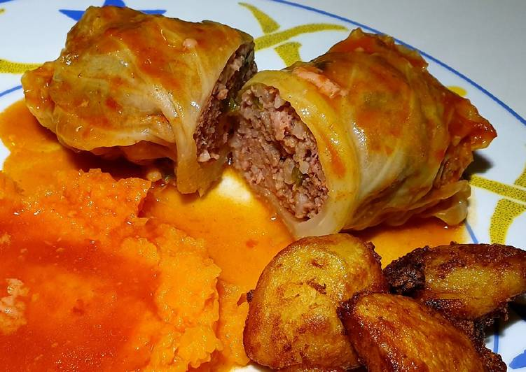 Cabbage wrapped meatballs