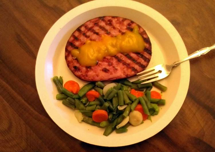 Grilled Ham Steak & Veggies