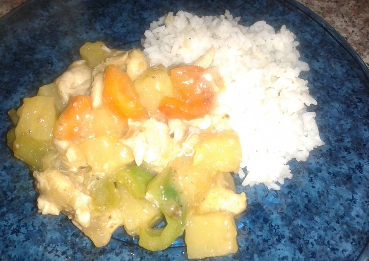 Sweet & Sour Chicken w/Rice