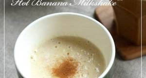 Highly Nutritious Hot Banana Milkshake