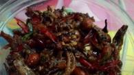 Permalink to How to Make Yummy Fried anchovies and peanut with chilli (Kering teri kacang pedas)