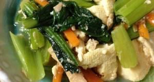 Firm Tofu Komatsuna  Tuna Stir-Fry