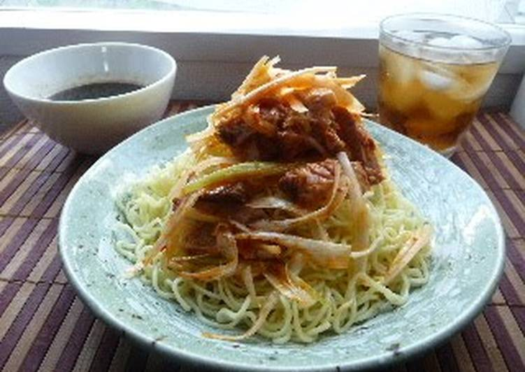Fantastic Green Onion  Char Siu Ramen Noodles with Dipping Sauce