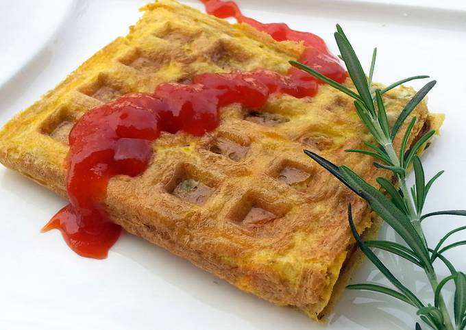 Recipe of Ultimate Omelette Waffle