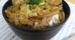 Chicken  Egg Rice Bowl in a Skillet
