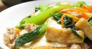 Stir-Fried and Simmered Atsuage and Komatsuna