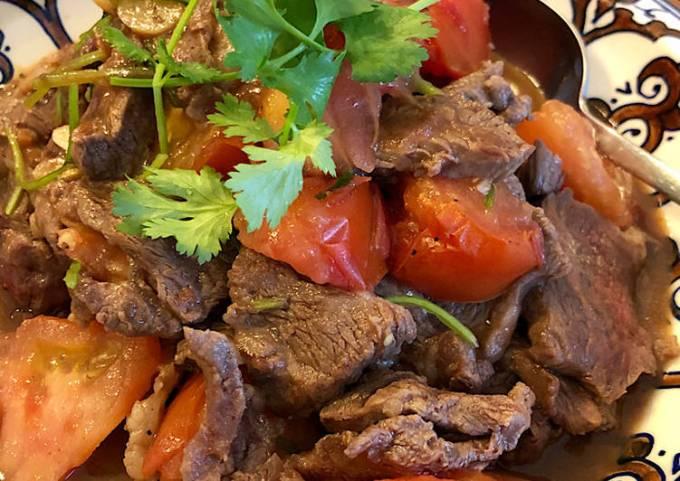 Beef & Tomato stir-fry