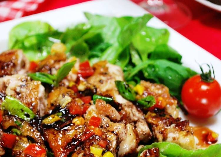Pan-Fried Chicken Thighs with Balsamic Sauce