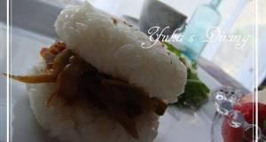 Easy Super Spicy Kimpira Rice Burger