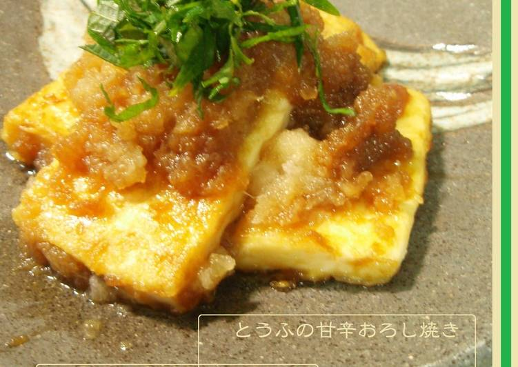 Sweet & Spicy Fried Tofu with Grated Daikon Radish Sauce