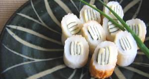 Striped Chikuwa Fishcake Sticks Bento or Appetizer