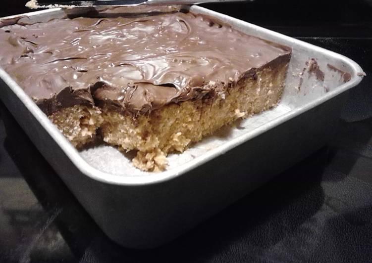 Rice Krispy Treats; chocolate & peanut butter