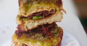 Scallop XO Sauce With Pesto And Sun Dried Tomato Sandwich