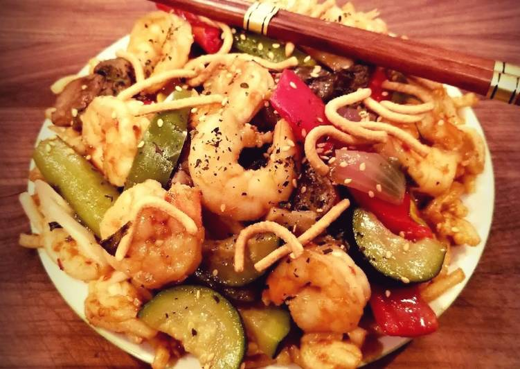 Mikes Sweet  Spicy Firecracker Shrimp  Noodles