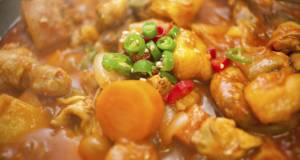 Spicy Korean Chicken Hot Pot Daktoritang