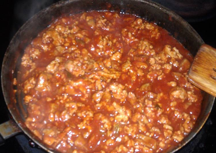 chicken and sausage sloppy Joes