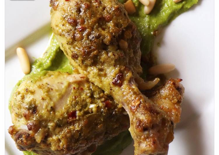 Grilled Chicken With Parsley Pesto
