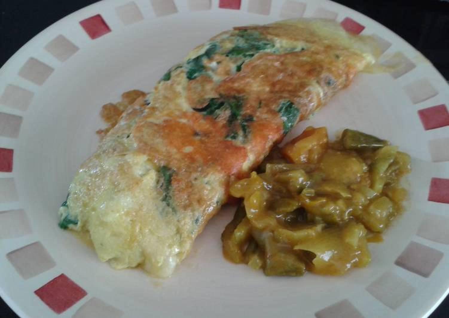Garden spinach omelette