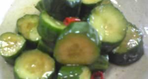 Nostalgic Pickled Cucumbers