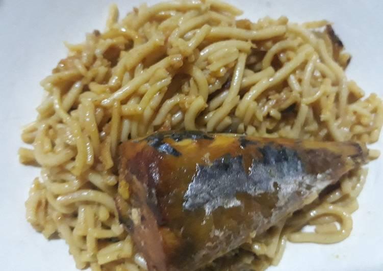 Titus fish spagetti