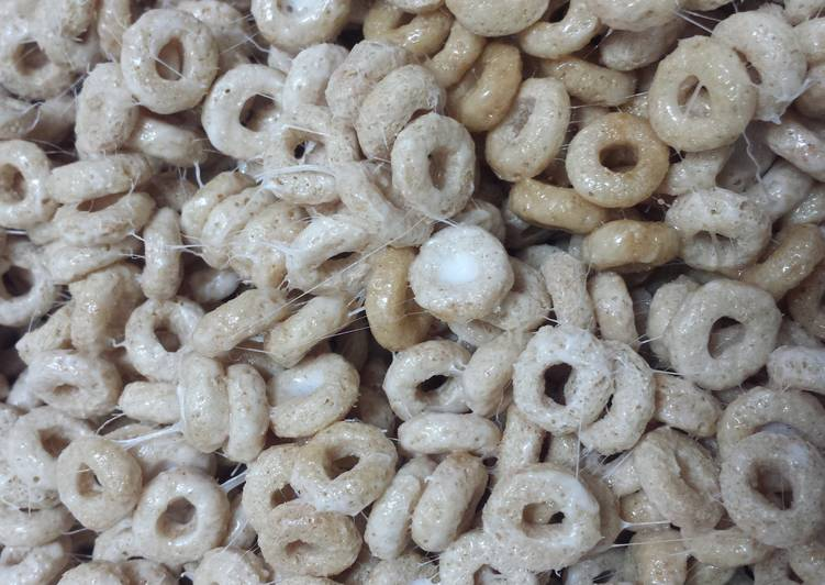 5 min. Healthier Cheerios crispy treats
