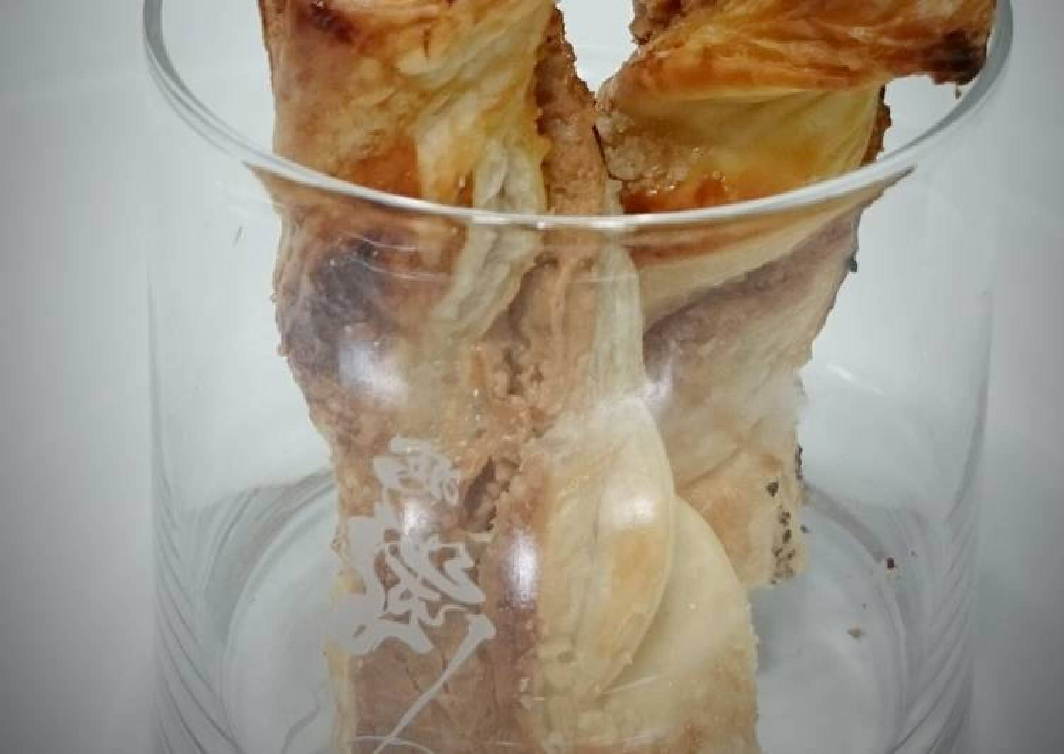 Twisted Peanut Butter Puff Pastry