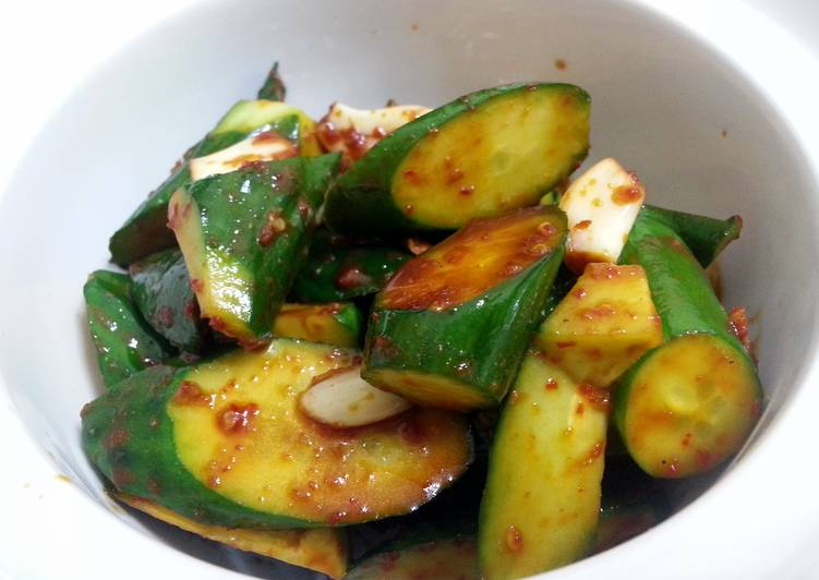 Step-by-Step Guide to Prepare Any-night-of-the-week Spicy Cucumber Vegan Appetizer
