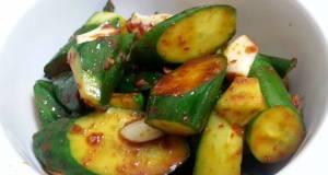 Spicy Cucumber Vegan Appetizer