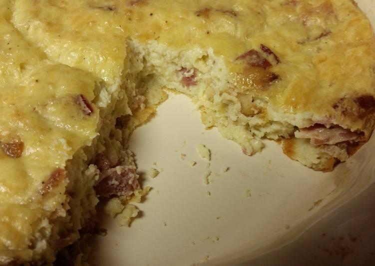 Bacon & Swiss Quiche (gluten-free)