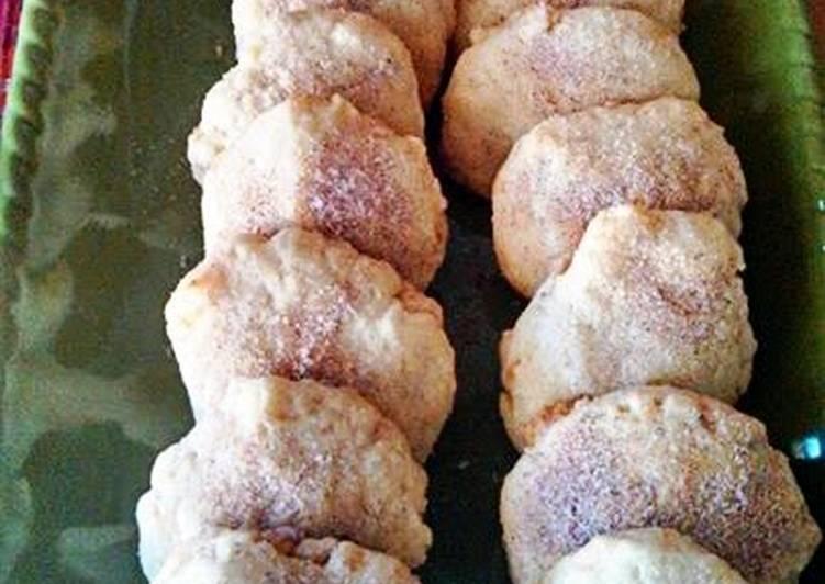 Shortbread Macadamia Cinnamon  Sugar Cookies