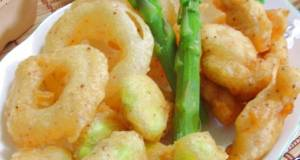 Beer-Battered Fried Fava Beans and Chicken Tenders