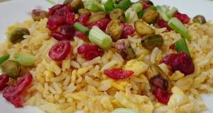 Fried Rice With Cranberry And Pistachio